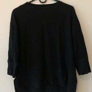 Tops - Black 3/4 Length Sleve Tee Shirt